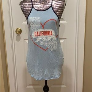 Blue Charlotte Russe Medium California Tank Top